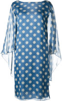 Alberta Ferretti sheer shift dress - women - Silk/Rayon - 40