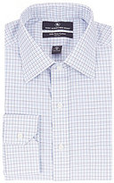 Hart Schaffner Marx Non-Iron Fitted Classic-Fit Spread Collar Check Dress Shirt