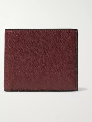 Valextra Pebble-Grain Leather Billfold Wallet - Men - Burgundy