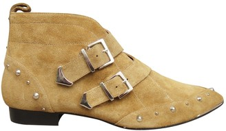 IRO Green Suede Ankle boots