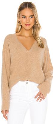 Vince Fringe V Neck Sweater