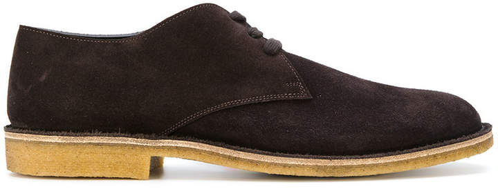 Bottega Veneta Chaussures Derby Style Chukka - Marron 5dAmh