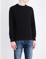 Tom Ford Waffle-knit Cotton And Silk-blend Jumper