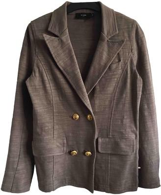 Et Vous Khaki Cotton Jacket for Women