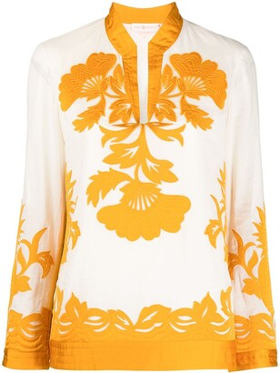 Tory Burch Embroidered Floral Tunic