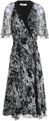 Lanvin Floral-print Silk-georgette Wrap Dress