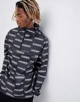 Napapijri Aumo Jacket With All Over Print In Black