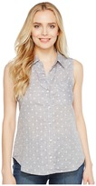 Dylan by True Grit - Double Cloth Sleeveless Dots Women's Sleeveless