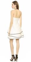 Halston Layered Skirt Halter Dress