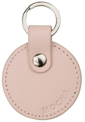 Mocha Jane Leather Key Ring - Blush