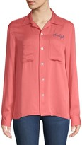 Ralph Lauren Embroidered Button-Front Shirt