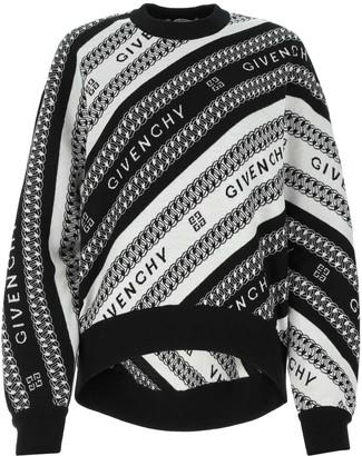 Givenchy Logo Chain Jacquard Sweater