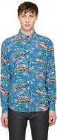 Saint Laurent Blue Car Shirt