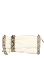 Giuseppe Zanotti Spikes Nappa Leather Clutch