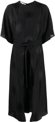 Stella McCartney Jacquard Belted Midi-Dress