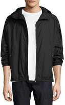 Salvatore Ferragamo Small-Gancini Hooded Jacket, Navy
