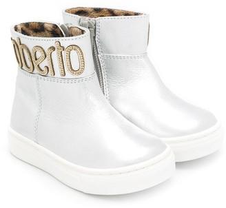 Roberto Cavalli Junior Logo Ankle Boots