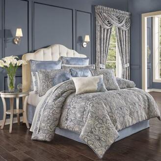 J Queen New York Alexis 4-Piece Queen Comforter Set in Powder Blue