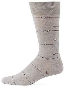 Saks Fifth Avenue Arrow Mid-Calf Socks