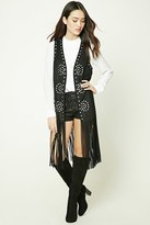 Forever 21 FOREVER 21+ Studded Faux Suede Vest