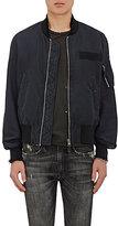 R 13 Men's Distressed Cotton-Blend Bomber Jacket