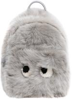Anya Hindmarch Mini Eyes Shearling & Leather Backpack