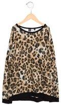 Molo Girls' Leopard Print Long Sleeve Top
