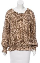 Rachel Zoe Long Sleeve Silk Top
