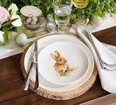 Pottery Barn Pasture Bunny Salad Plate, Mixed Set of 4