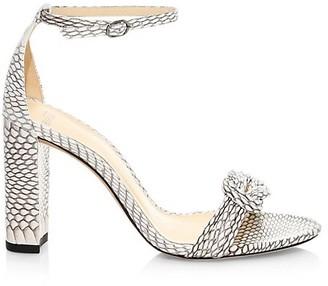 Alexandre Birman Vicky Knotted Python Sandals