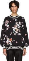 Dolce and Gabbana Black Flower Sweatshirt