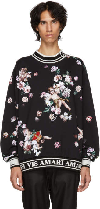 Dolce & Gabbana Black Flower Sweatshirt