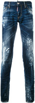 DSQUARED2 paint splatter jeans - men - Cotton/Calf Leather/Polyester - 44