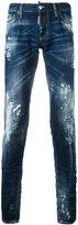 DSQUARED2 paint splatter jeans - men - Cotton/Calf Leather/Polyester - 50