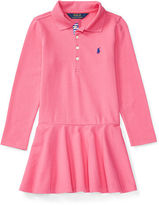 Ralph Lauren Stretch Long-Sleeve Polo Dress