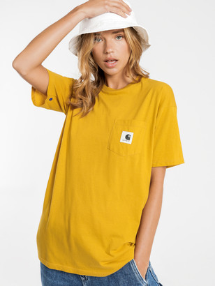 Carhartt Wip Carrie Short Sleeve Pocket T-Shirt in Yellow