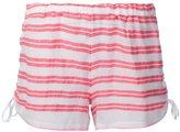 Lemlem striped short shorts - women - Cotton/Acrylic - M