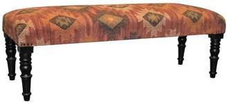 Herat Oriental Handmade Indo Jute Upholstered Wooden Bench