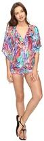 Luli Fama Gorgeous Chaos Cabana V-Neck Dress Women's Swimwear