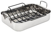 Anolon Tri-Ply Clad Stainless Steel Large Rectangular Roaster with Nonstick Roasting Rack