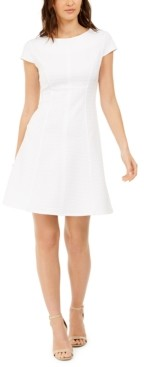 Kasper Kapser Textured Fit & Flare Dress