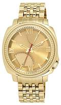 Vince Camuto Men's Quartz Watch with Gold Dial Analogue Display and Gold Stainless Steel Bracelet VC/1002GDGP