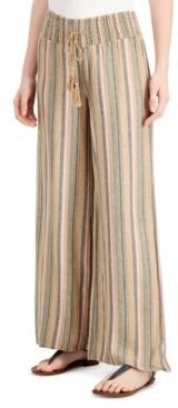 Vanilla Star Juniors' Striped Wide-Leg Pants