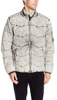 Calvin Klein Jeans Men's Quilted Stand Collar Jacket