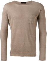 Roberto Collina patch pocket jumper - men - Linen/Flax - 46