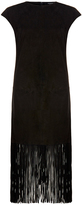 Muu Baa Muubaa Sorel Black Fringe Suede Dress