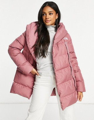 The North Face Bagley Down jacket in pink