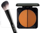 EVE PEARL Dual Pressed Powder & Brush Duo - Dark