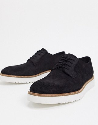Clarks ernest lace up in black leather