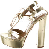 Aquazzura Metallic Platform Sandals